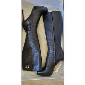 Christian Dior Lamb Skin Knee High Boots